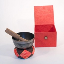Afroton A-aks865 - Set Cadeau Bol Tibétain Brun 8cm