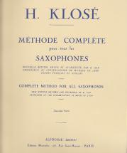 Klose - Méthode Complète Pour Tous Les Saxophones Vol.2
