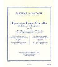 Maxime-alphonse - 200 Etudes Nouvelles Vol.5 - Cor