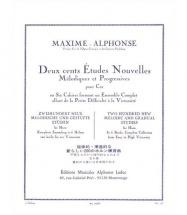 Maxime-alphonse - 200 Etudes Nouvelles Vol.1 - Cor