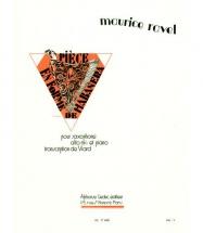 Ravel M. - Piece En Forme De Habanera - Saxophone Alto Et Piano