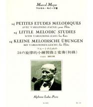 Moyse - 24 Petites études Mélodiques - Flute