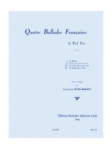 Puig-roget H. - Quatre Ballades Françaises - Voix Et Piano