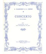 Glazounoff Alexander - Concerto En Mib Majeur - Saxophone Mi B, Piano