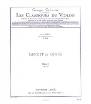 Bach J.s. - Menuet Et Gigue - Violon and Piano