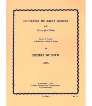 Busser Henri - La Chasse De Saint Hubert - Cor and Piano