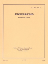 Bozza Eugene - Concertino - Saxophone Alto and Piano