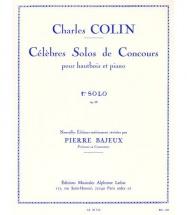 Bajeux / Colin - Celebre Solo De Concours N°1 Op.33 - Hautbois Et Piano