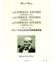 Moyse M. - 24 Caprices-etudes De Boehm - Flute