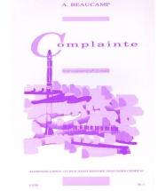 Beaucamp - Complainte - Clarinette Et Piano