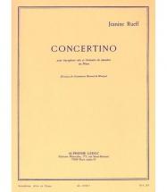 Rueff J. - Concertino Op.17 - Saxophone Et Piano