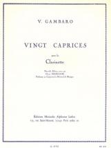 Gambaro V. - 20 Caprices - Clarinette