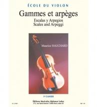 Hauchard Maurice - Gammes Et Arpeges Vol.1