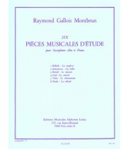 Gallois-montbrun Raymond - 6 Pieces Musicales D