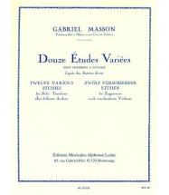 Masson G. - 12 Etudes Variees - Trombone