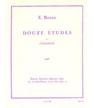 Bozza Eugene - Douze Etudes Pour Clarinette