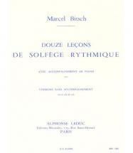 Bitsch Marcel - 12 Lecons Solfege Rythmique Cle De Sol Sans Accompagnement (version A)