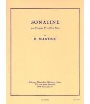 Martinu B.- Sonatine - Trompette Ut Ou Sib Et Piano