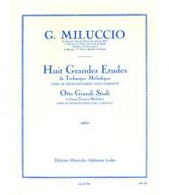 Miluccio Giacomo - 8 Grandes Etudes De Technique Melodique Clarinette Sib