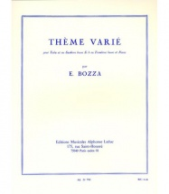 Bozza E. - Theme Varie - Tuba and Piano