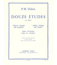 Dubois Pierre Max - 12 Etudes Pour Basson