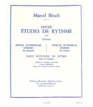 Bitsch M. - 12 Etudes De Rythme - Clarinette