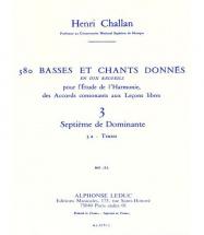 Challan H. - 380 Basses Et Chants Donnes Vol. 3