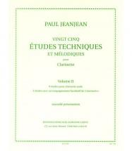 Jeanjean Paul - 25 Etudes Techniques Et Melodiques Vol.2