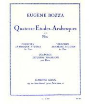 Bozza Eugene - 14 Etudes Arabesques Pour Flute