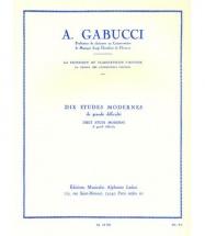 Gabucci - 10 études Modernes De Grande Difficulté Pour Clarinette