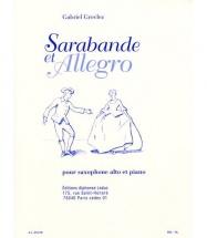 Grovlez Gabriel - Sarabande Et Allegro - Saxophone and Piano