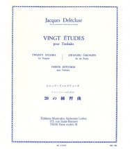 Delecluse Jacques - 20 Etudes - Timbales