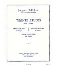 Delecluse Jacques - Trente Etudes Pour Timbales Cahier 2