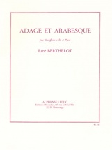 Berthelot Rene - Adage Et Arabesque - Saxophone and Piano