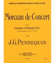 Pennequin J.g. - Morceau De Concert - Cornet A Pistons Sib & Piano