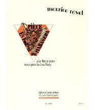 Ravel M. - Piece En Forme De Habanera - Flute Et Piano