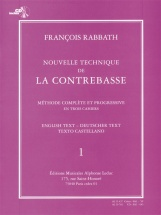 Rabbath Francois - Nouvelle Technique De La Contrebasse Vol.1 + Cd