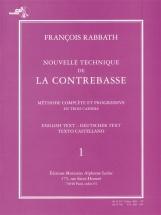 Rabbath Francois - Nouvelle Technique De La Contrebasse Vol.1 + Cd