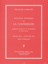 Rabbath Francois - Nouvelle Technique De La Contrebasse Vol.2