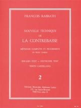 Rabbath Francois - Nouvelle Technique De La Contrebasse Vol.2