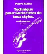 Cullaz Pierre - Technique Pour Guitaristes De Tous Styles Vol.3