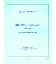 Wystraete Bernard - Rondeau Ballade - Flute and Piano