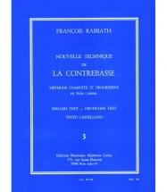 Rabbath Francois - Nouvelle Technique De La Contrebasse Vol.3
