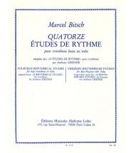 Bitsch M./ Greiner - 14 Etudes De Rythme - Trombone Ou Tuba