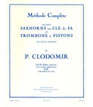 Clodomir Pierre Francois - Methode Saxhorns En Cle De Fa Et Trombone A Pistons Vol.1