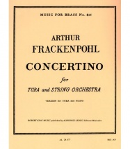 Frackenpohl Arthur - Frackenpohl:concertino.tuba/piano