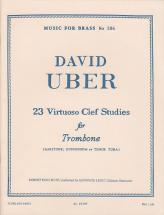 Uber David - 23 Virtuoso Clef Studies For Trombone