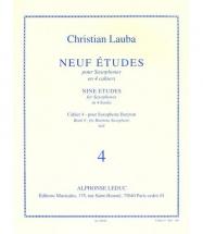 Lauba Christian - Neuf Etudes Pour Saxophone - Cahier 4