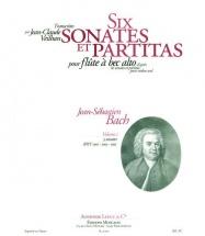 Bach Js / Veilhan - 6 Sonates Et Partitas Vol.1 - Flb Alto