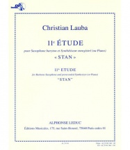 Lauba Christian - 11e Etude Stan - Saxophone Baryton and Synthetiseur Enregistre (ou Piano) + Cd